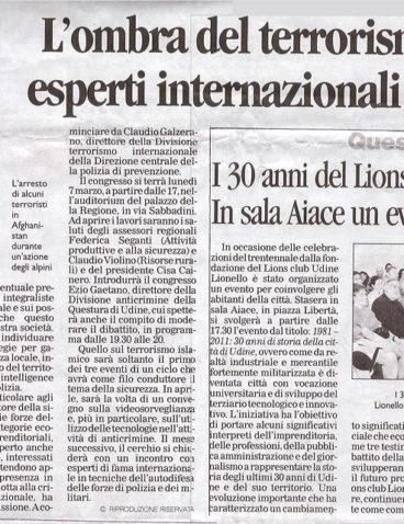 Messaggero del Lunedì – 7/2/2011